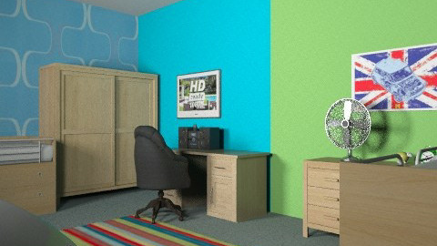 boys room in green and blue - Bedroom - by chelsiemia