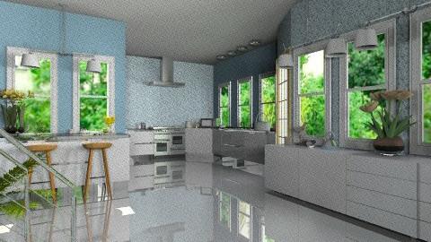 Ice Blue Kitchen II - Vintage - Kitchen - by bia_freitas