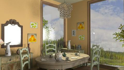 Summer house-3 - Vintage - Living room - by milyca8