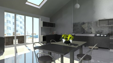 city apartmentv2 - Modern - Kitchen - by auntiehelen