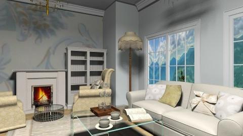 floral - Vintage - Living room - by cutypie1