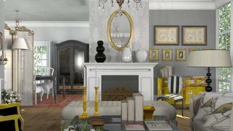 French - Glamour - Living room - by du321