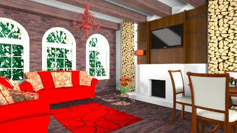 red and wood - Living room - by livia87
