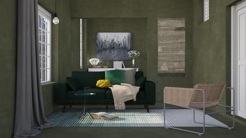 Green - Living room - by HenkRetro1960