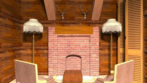 Cabin  - Living room - by amyspringett
