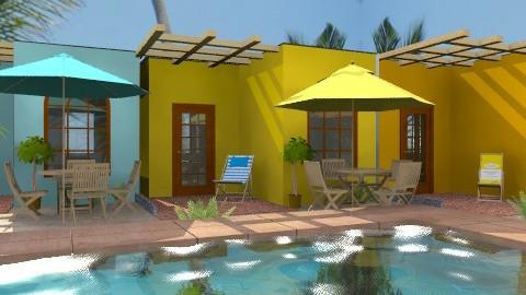 Coco Beach Cabins - Rustic - Garden - by Bibiche
