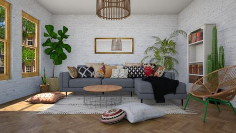 Bohemian Living Room - by littlewhitedesign