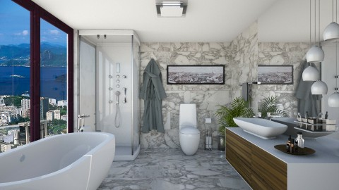 bathroom - Modern - Bathroom - by aletamahi