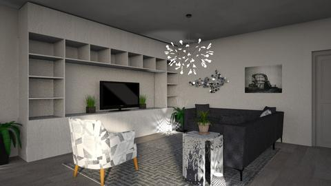 Grey Apartment 2 - Modern - Living room - by millerfam
