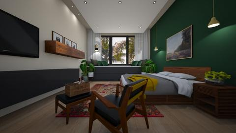 mid century modern - Bedroom - by MissREZA