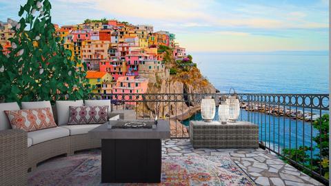 Beautiful Balcony overlooking Italy - Living room - by livdesign