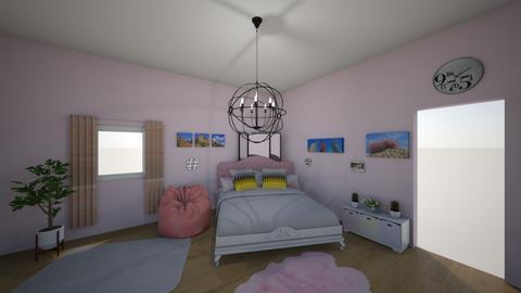 pink_plants - Modern - Bedroom - by tervezoke