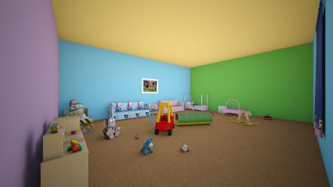 Bedroom and Playroom - Kids room - by cranktopus