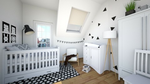 cute baby room - Kids room - by leenvandesande