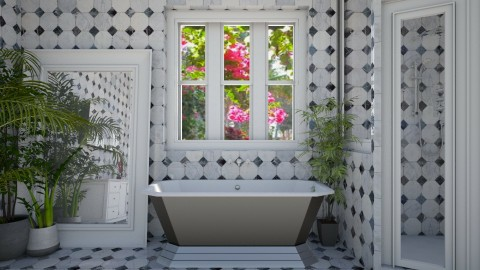 marble bath4 - Country - Bathroom - by donella