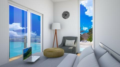 BLUE OCEAN - Living room - by Monica V Seke
