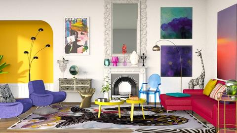 Maximalist  - Living room - by sabaclayes