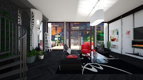 City Life - Retro - Living room - by timeandplace