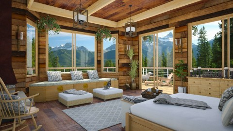 Design 264 Sleeping in the Rockies - Bedroom - by Daisy320