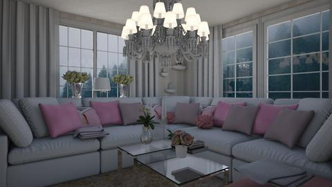 pink and white - Living room - by zsjv1989gmailcom