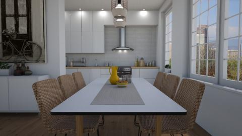 Open - Kitchen - by Tuija