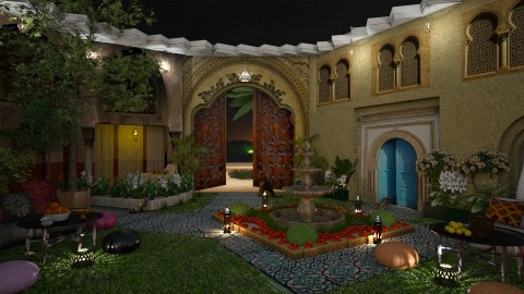 Layla s Courtyard - by marocco