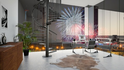 Fireworks Home Office - Office - by Cailyn V