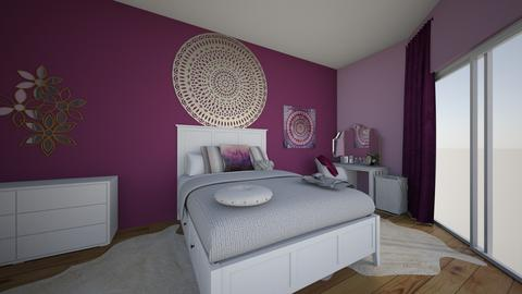 purple teen room - Bedroom - by cinderella1111