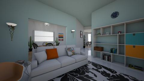 Orange and Blue - Living room - by snowflake11841