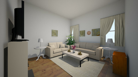Living room Cream White - Modern - Living room - by Abi Patterson