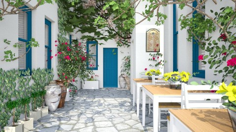 Design 84 Quaint Alley on Paros Island - Garden - by Daisy320