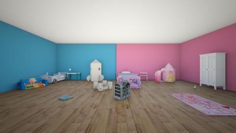Twin bedrooms  - Kids room - by emiliabee