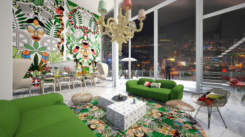 L'afrique - Eclectic - Living room - by AlSudairy S