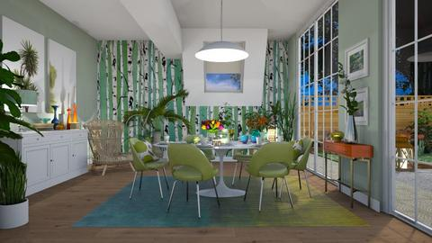 Spring Eve - Modern - Dining room - by janip