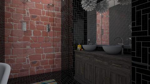 brick n glass - Bathroom - by renakate