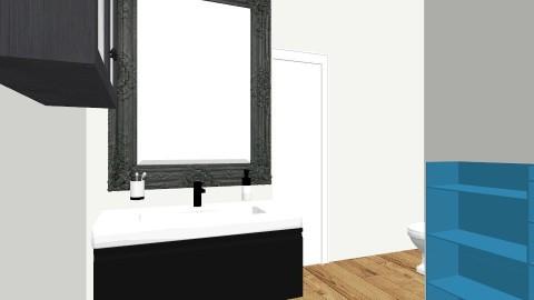 1st idea leaving walls - Minimal - Bathroom - by Romancikremodel