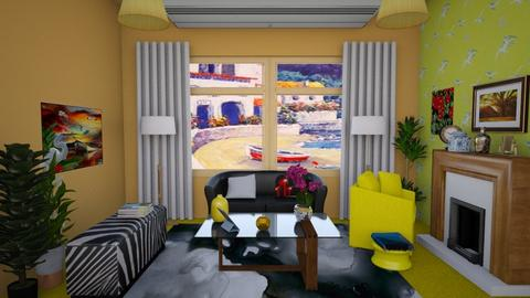yellow - Living room - by HannaTOTE