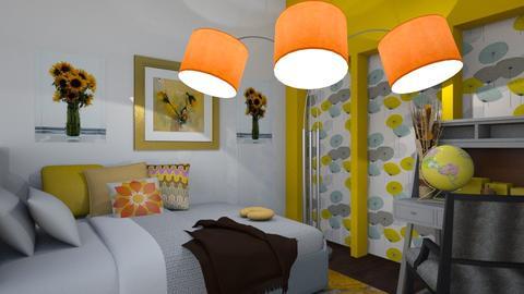 Open Sunflower - Modern - Bedroom - by XiraFizade