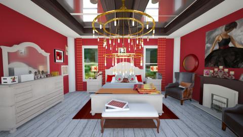 canela red  - Bedroom - by doctorlili