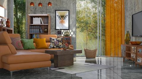 M_Retro feeling - Living room - by milyca8