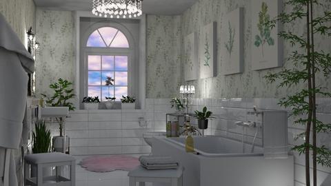 Greenery Bathroom - Bathroom - by GraceKathryn