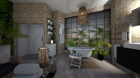Jungle bathroom - Bathroom - by Gena1310