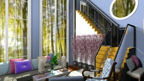tall family room - Modern - Living room - by dancergirl1243