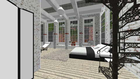 habitación de sotano - Bedroom - by lady_black_rose