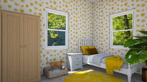 Yellow spring - Bedroom - by Louise Hedlund