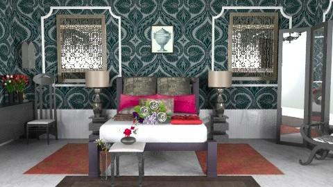 gothic room - Retro - Bedroom - by ATELOIV87