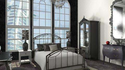 black n white - Classic - Bedroom - by Aliya Al