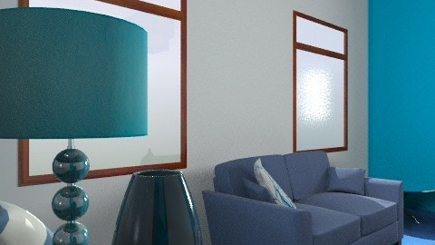 Blue - Modern - Living room - by Decorator1000