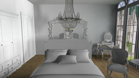 Like a Queen white - Vintage - Bedroom - by Ivana J