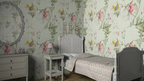 vintage bedroom - Vintage - Bedroom - by rororo